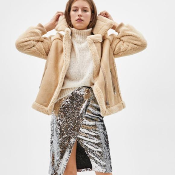 Bershka Jackets & Blazers - NWT Bershka Zara Group Faux Shearling Jacket Coat